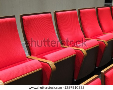 Theater red chair #1259810332