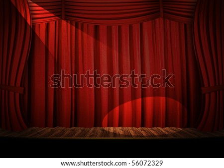 Theater red curtain