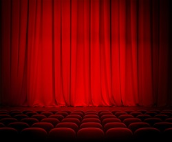 theater red curtains and seats