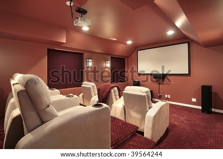 Theater room in upscale home #39564244