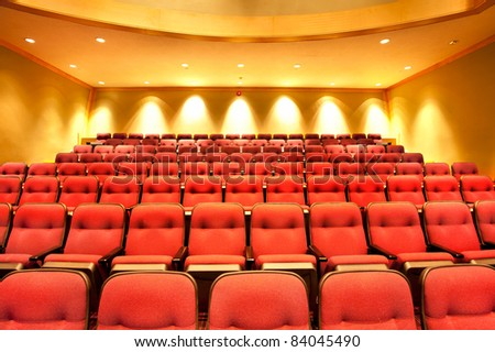 Theater seats in movie hall