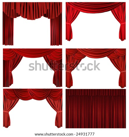 Theater Stage Drape Curtain Elements to Easily Extract and Design Your Own Background