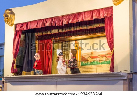 Theater with outdoor puppet show Stock photo ©