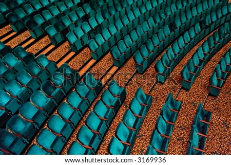 Theatre seats - stock photo
