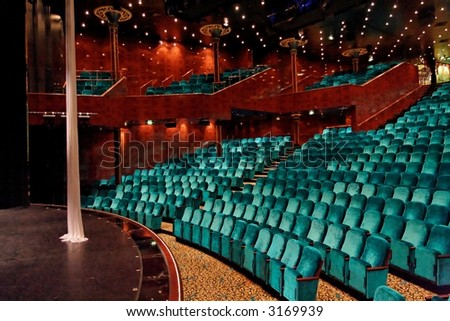 Theatre seats and stage