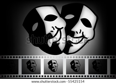 Tragedy And Comedy. mask of tragedy and comedy