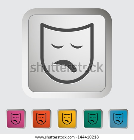 Theatrical mask. Single icon.