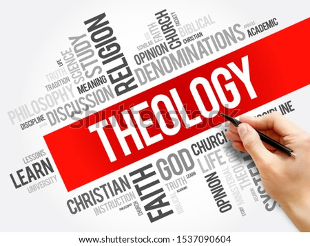 Theology word cloud collage, religion concept background Stock photo ©
