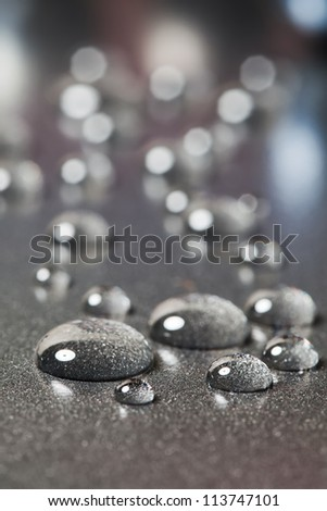 There are a few colourless gliserien  drops.
