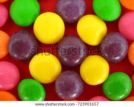 There are multicolored candies  #723901657