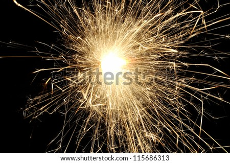 There is a background made from light of sparkler - stock photo