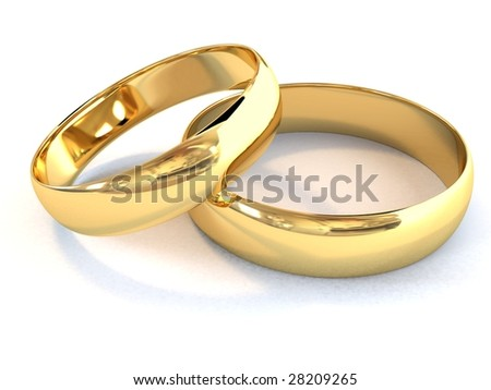 stock photo There is a gold wedding rings