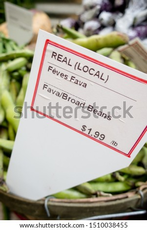 There is information and a price for these local fava beans