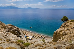 Therma beach in Kos island view from above