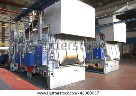 Thermal furnace. Heat treatment of details of chisel for the boring drilling