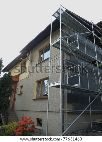 Thermal insulation of building by styrofoam