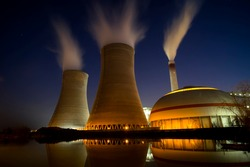 Thermal power plant at work