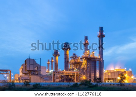 Thermal Power Plant for Industrial Estate on sunset and Twilight. #1162776118
