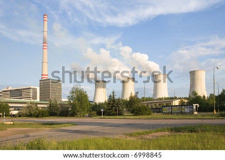 Thermal power station Chvaletice - Czech republic