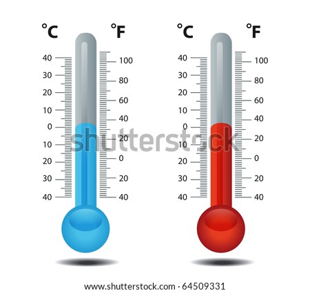 Thermometer celsius fahrenheit raster