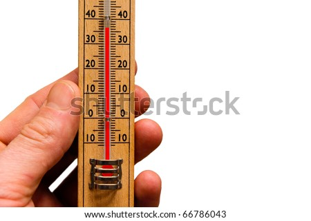 Thermometer, global warming, high temperature in hot weather