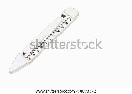 Thermometer showing the lowest temperature of the air