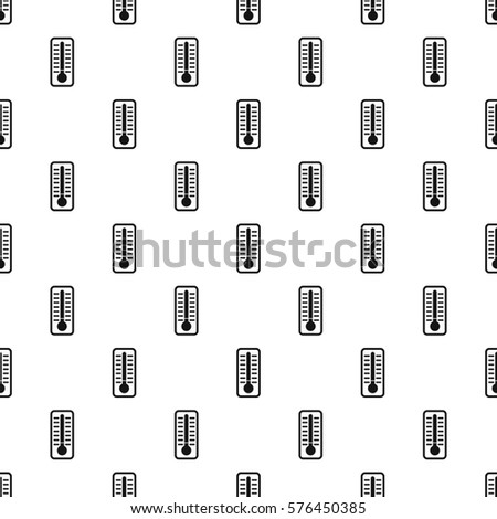 Thermometer with high temperature pattern. Simple illustration of thermometer with high temperature  pattern for web