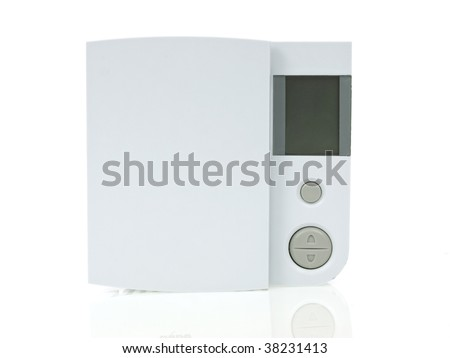 Thermostat isolated on white background