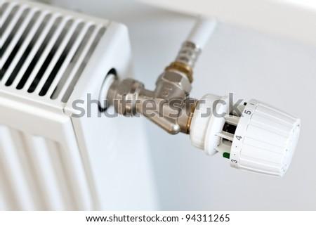 Thermostat on a radiator