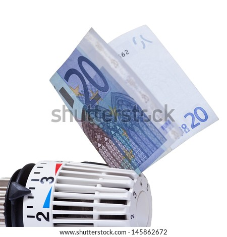 Thermostat with 20 euro. Heating costs