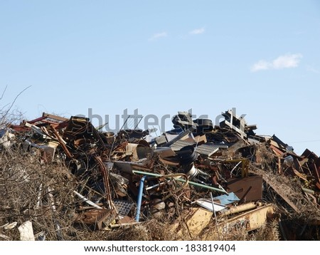 These are debris of homes damaged by a hurricane
