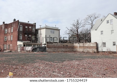 These are photos of an urban dead end by a bridge in New Jersey. Stockfoto ©