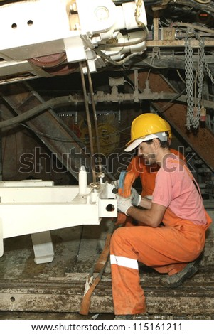 THESSALONIKI, GREECE - AUG 2: Works for the construction of metro in the center of town on August 2, 2010 in Thessaloniki,Greece.