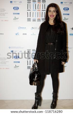 THESSALONIKI - NOV,10:Greek actress Tonia Sotiropoulou (Bond Girl in the new James Bond movie Skyfall) during the closing ceremony of 53rd Thessaloniki International Film Festival on Nov 10, 2012