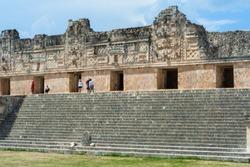 They walk tourists for Uxmal's ruins in Merida Yucatan.