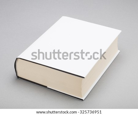 Thick Blank book with white cover ストックフォト ©