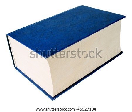 Thick blue book on white background (isolated with path). ストックフォト ©