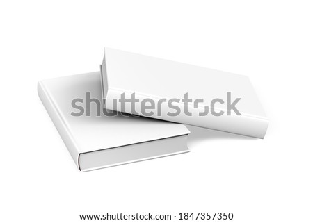 Thick book mockup isolated on white background - 3d render ストックフォト ©
