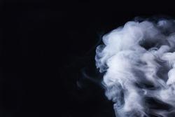 Thick gray smoke
