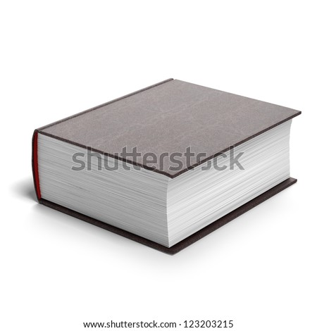 Thick red book isolated on a white background ストックフォト ©