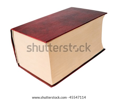 Thick red book on white background (isolated with path). ストックフォト ©