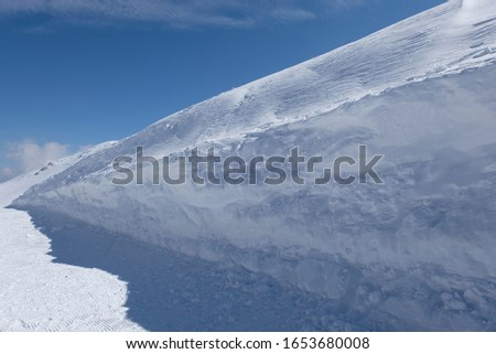 Thick snow at the mountain top Stok fotoğraf ©