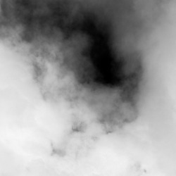 thick white smoke on black background