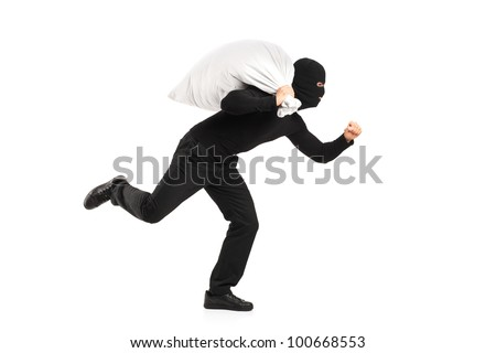 Thief Running Away Thief Running Away Clipart