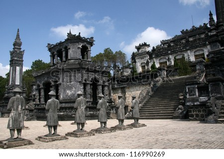 Thien Dinh Palace (UNESCO) in Hue, Vietnam
