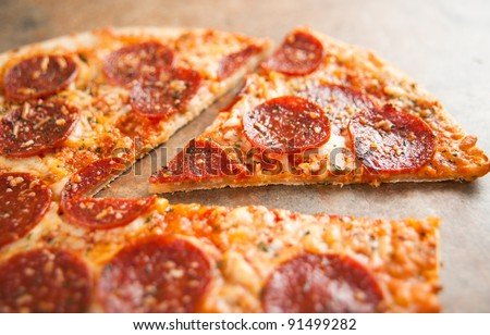 Thin Crust Pepperoni Pizza