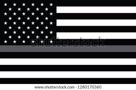 Thin Grey Line Flag for Corrections Officers. Support for Corrections Agents Flag. Corrections Officers responder. Flags of Valor. Show your support for Corrections enforcement
