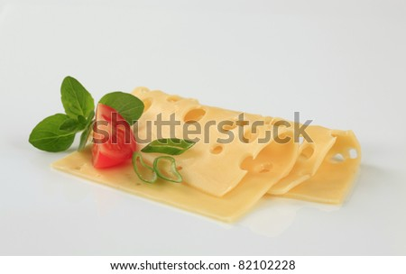 Thin slices of Swiss cheese