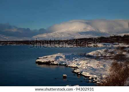 Thingvellir is a national park containing both historical and natural beauties  winter views of Iceland