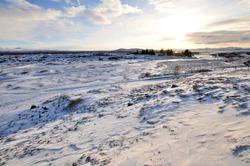 Thingvellir National Park in winter, Iceland.
